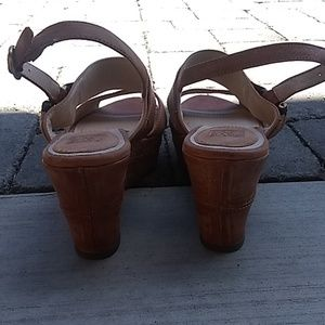 """Frye Shoes - Frye """"Carlie Sling"""" slingback Wedge Sandal"""